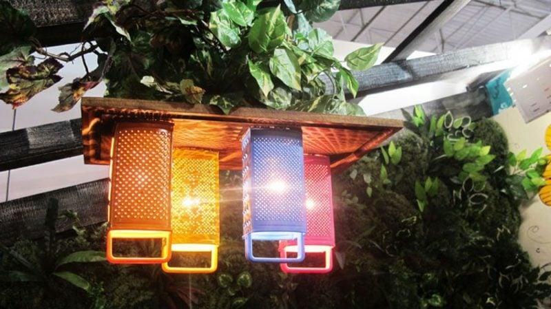 Ausgefallene Gartendeko selber machen Lampen Reibeisen