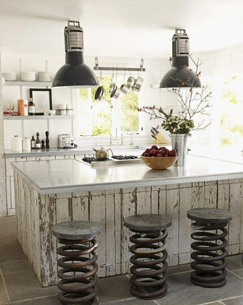 kleine Küchen einrichten romantischer Vintage Look