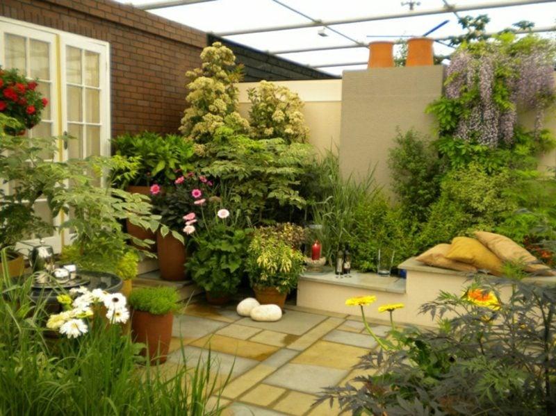 Gestaltung kleiner Garten platzsparende Ideen