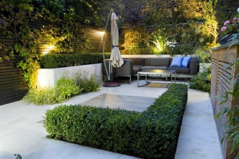 Gestaltung kleiner Garten geometrische Formen verwenden