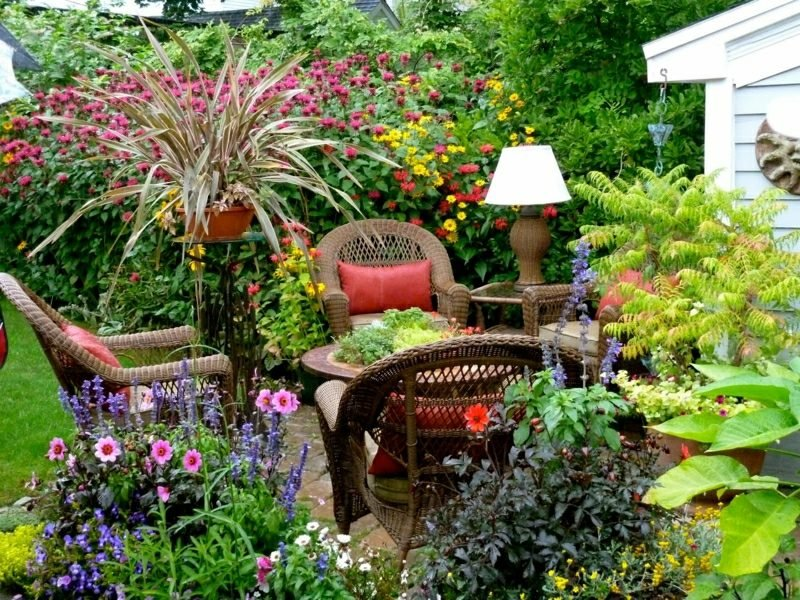Gestaltung kleiner Garten eine Sitzecke organisieren
