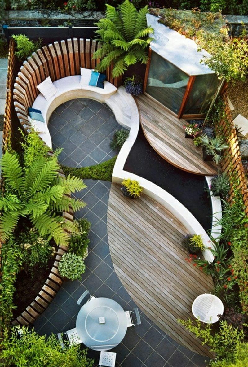 Gestaltung kleiner Garten modern Ideen und Tipps und beim Planen