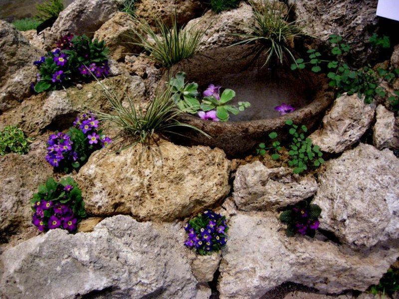 Trockenmauer bauen und bepflanzen Blickfang im Garten