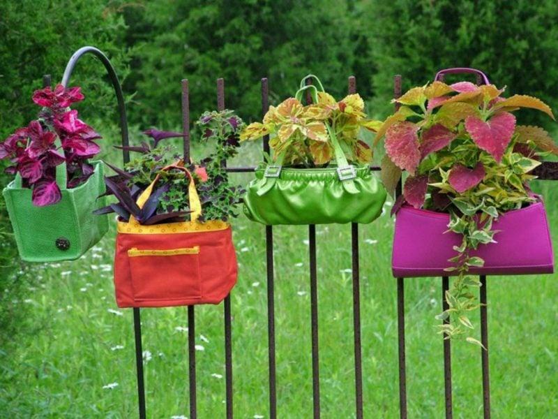 Gartenideen für wenig Geld Upcycling Damentschen