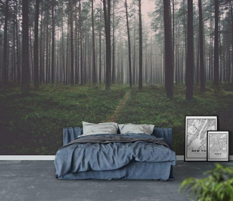 Fototapete Wald als Akzent im Schlafzimmer