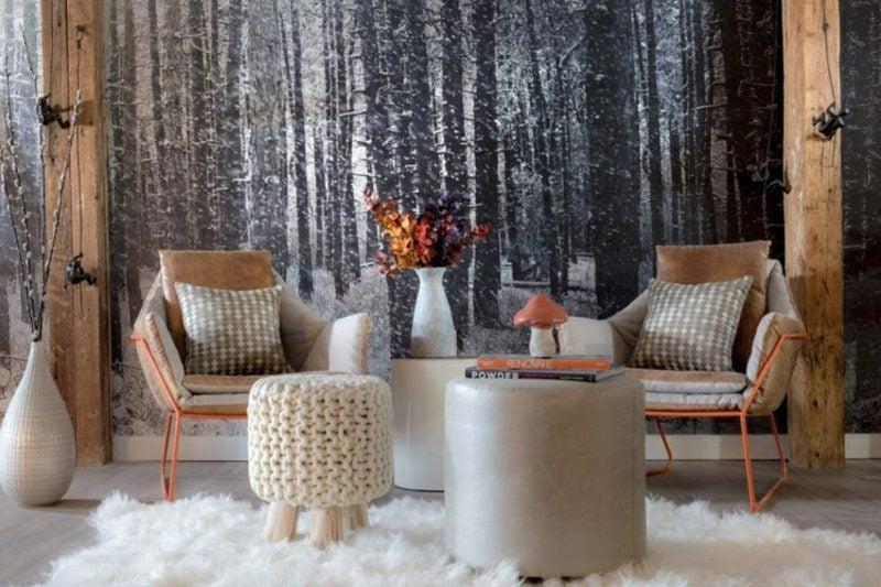 Fototapete Wald im Winter herrlicher Look