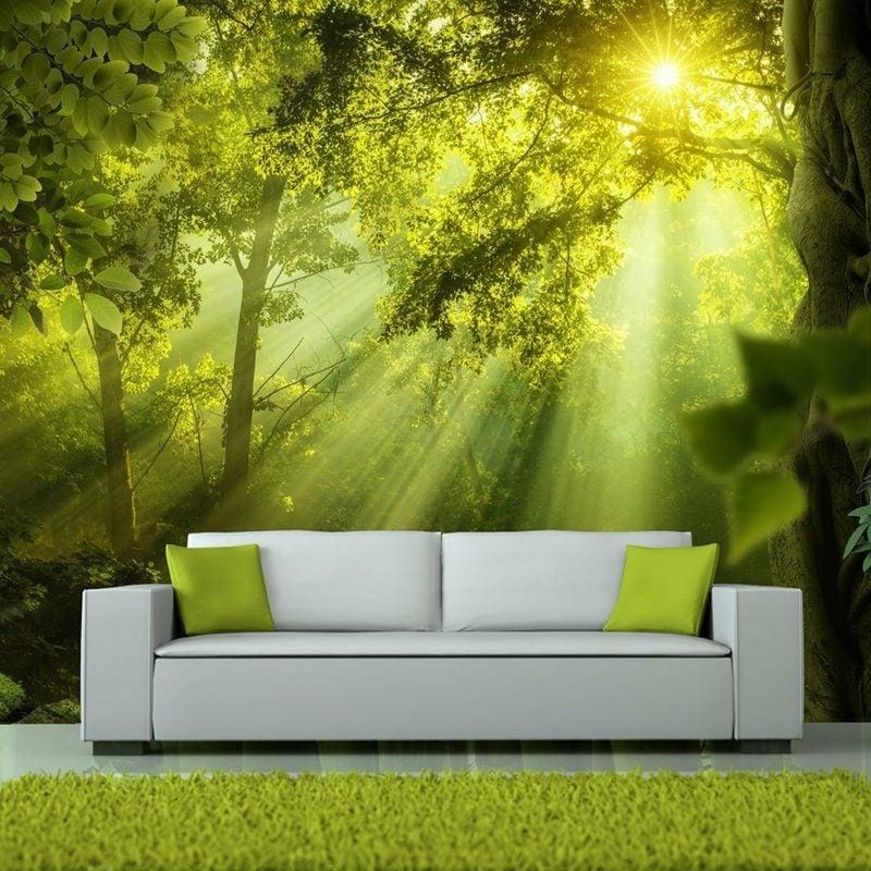 Fototapete Wald im Wohnzimmer stilvolles Ambiente