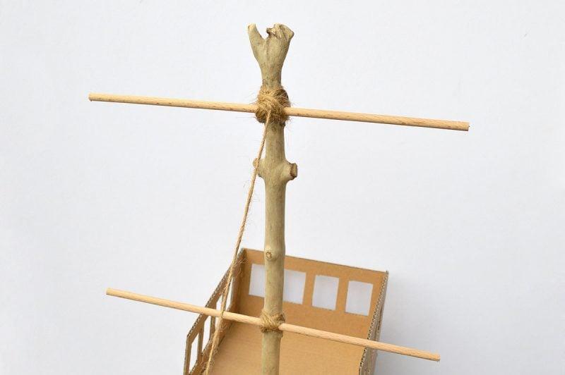 Bastelideen für Kinder: Piraten Spielzeuge aus Karton basteln