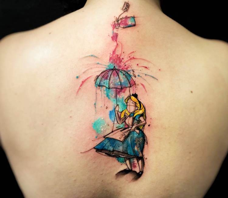 Alica Disney Tattoo Frauen