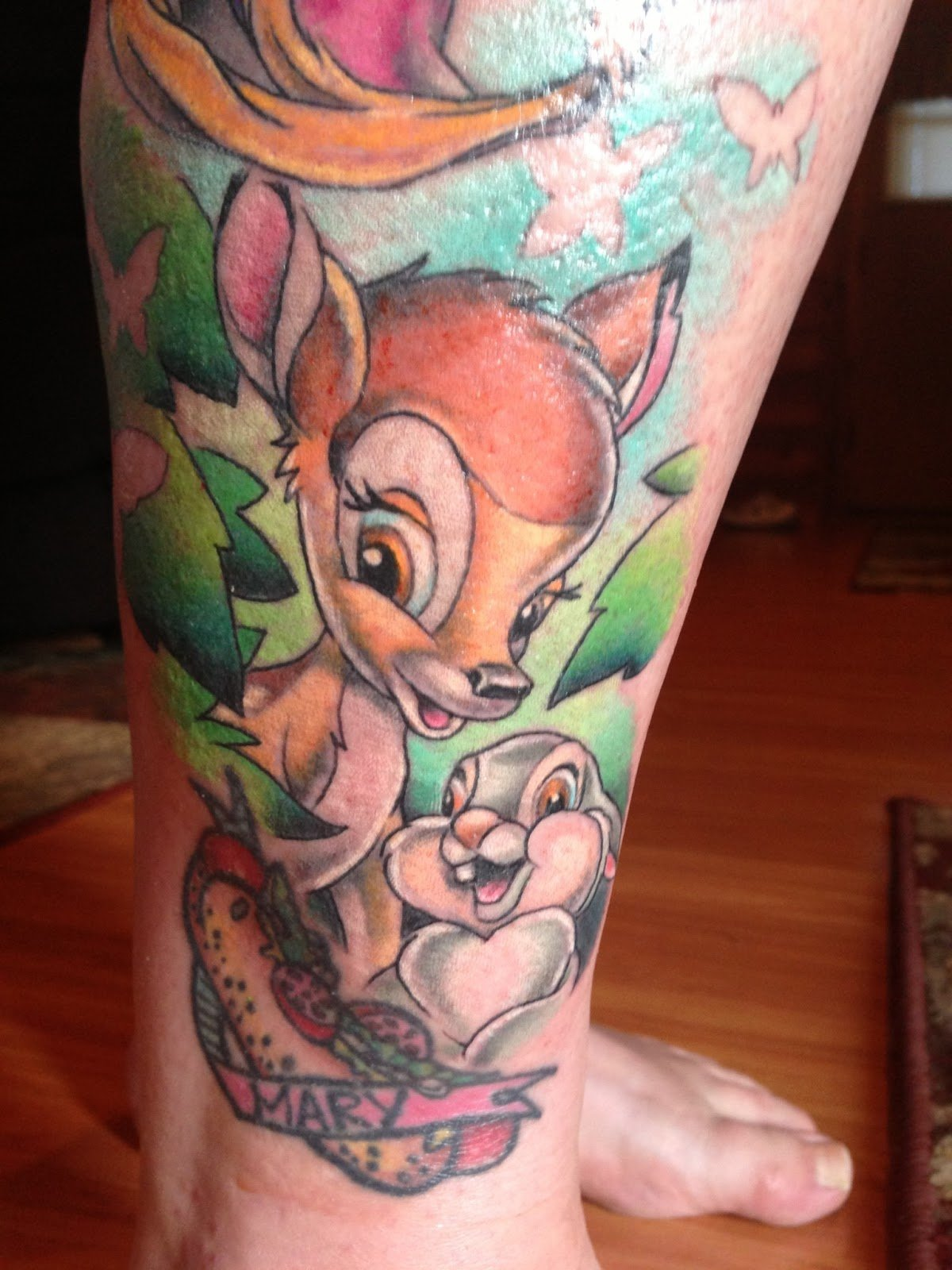 Bambie Tattoo - Lieblingsmotive von Disney Tattoos