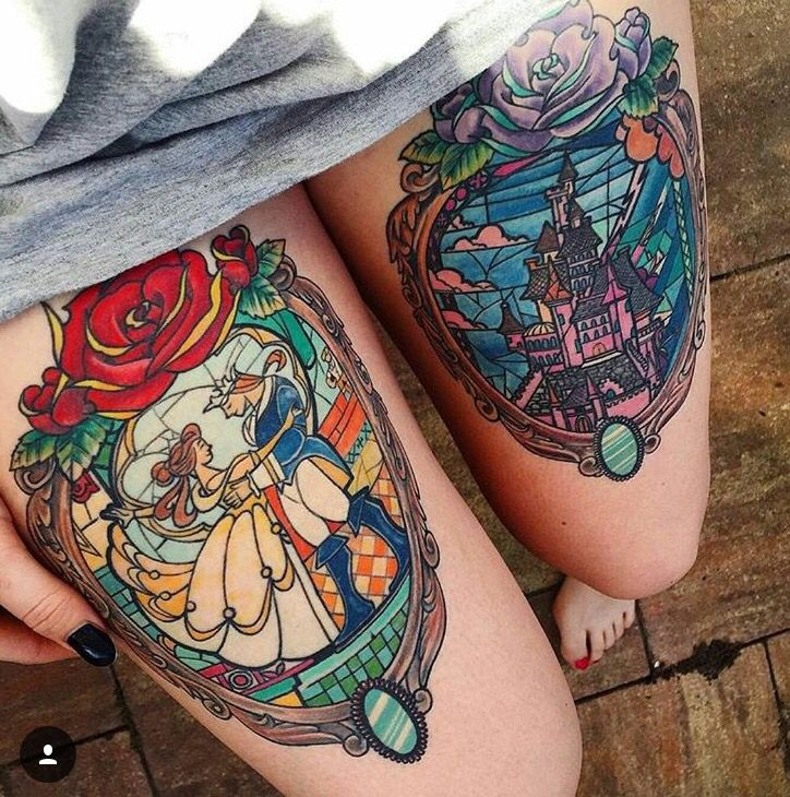 Disney Tattoo - Beauty and the Biest Tattoo