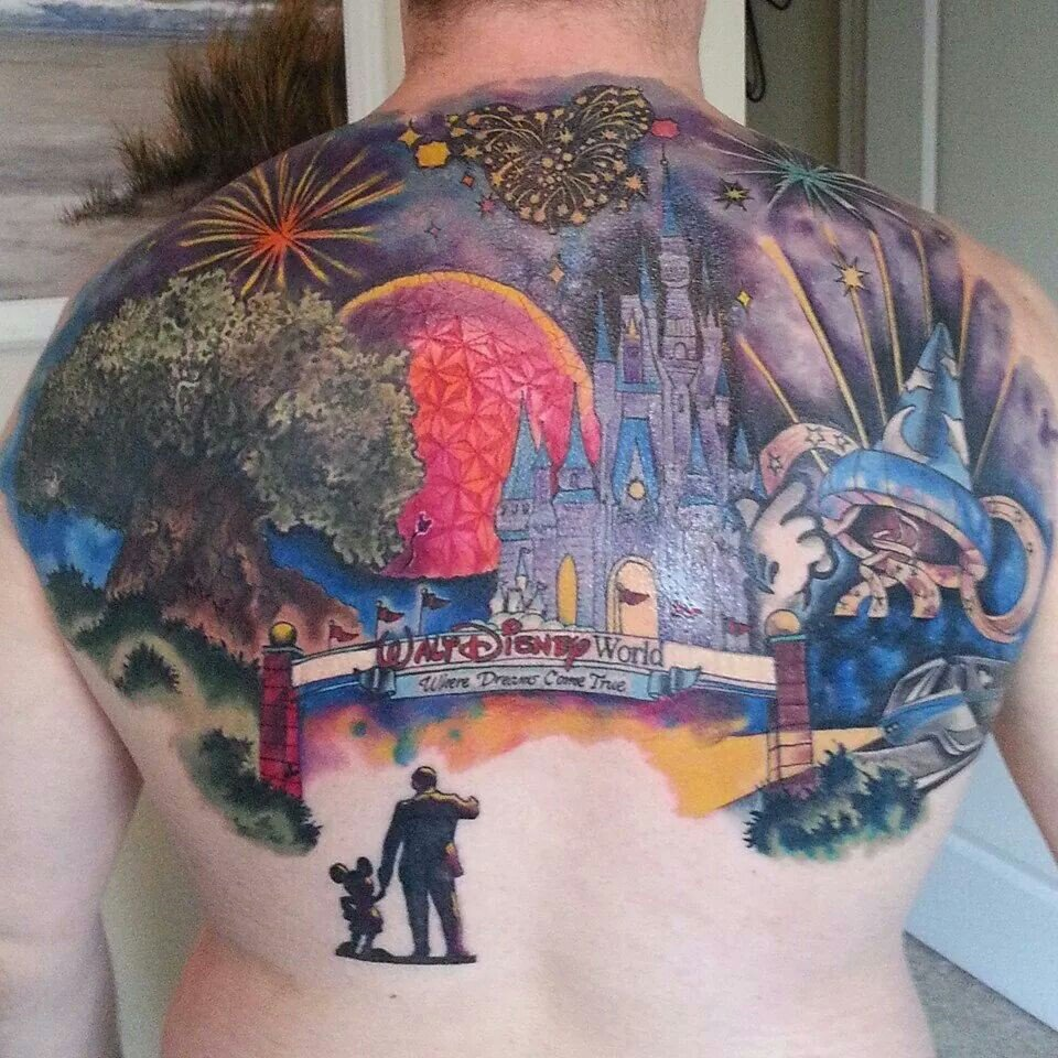 Disneyland Schloss Tattoo