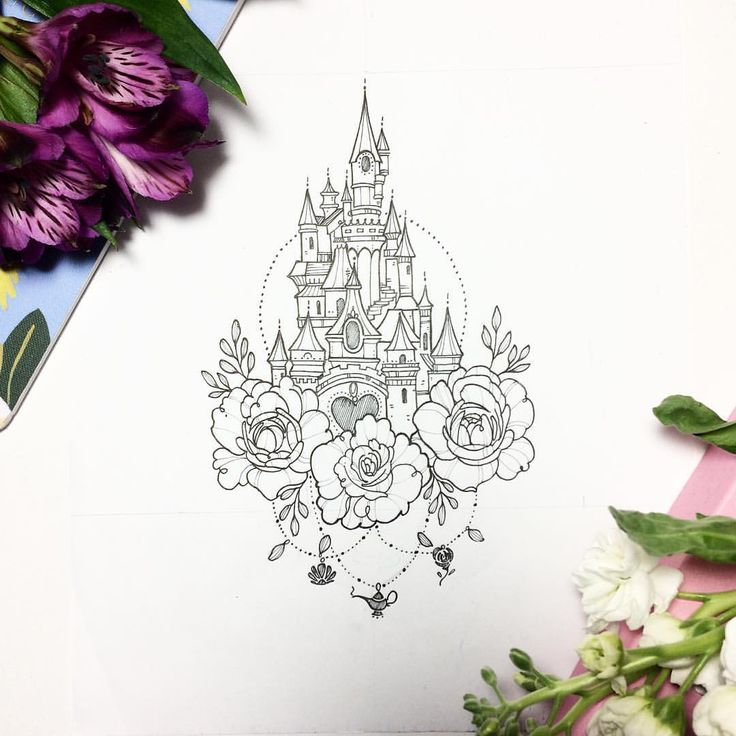 Disney Tattoo Vorlagen Disney Castle Silhouette