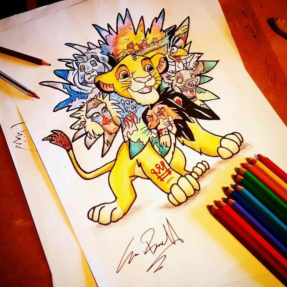 Simba Tattoo Disney Tattoo Vorlage