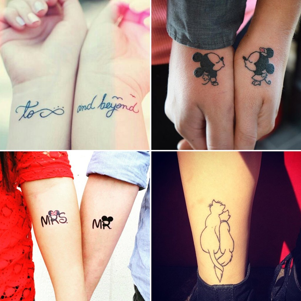 Disney Tattoos sind die perfekten Partner Tattoos