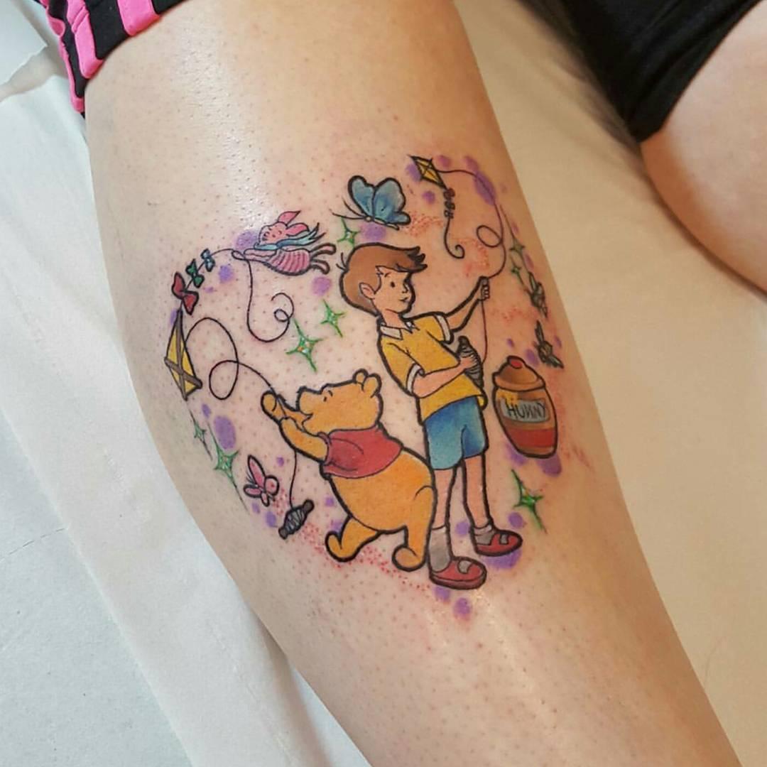 Disney Tattoo Winnie Pooh Tattoo