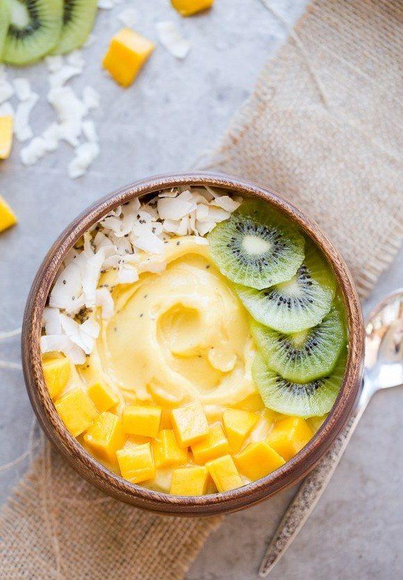 Ein schnelles Frühstück für den Sommer: Mango Smoothie