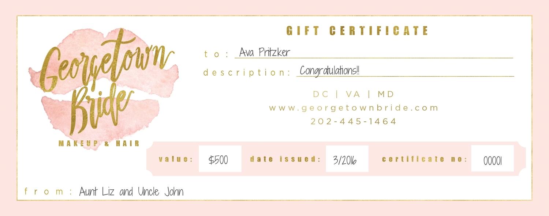 Gutschein Vorlage für Braut Geschenk