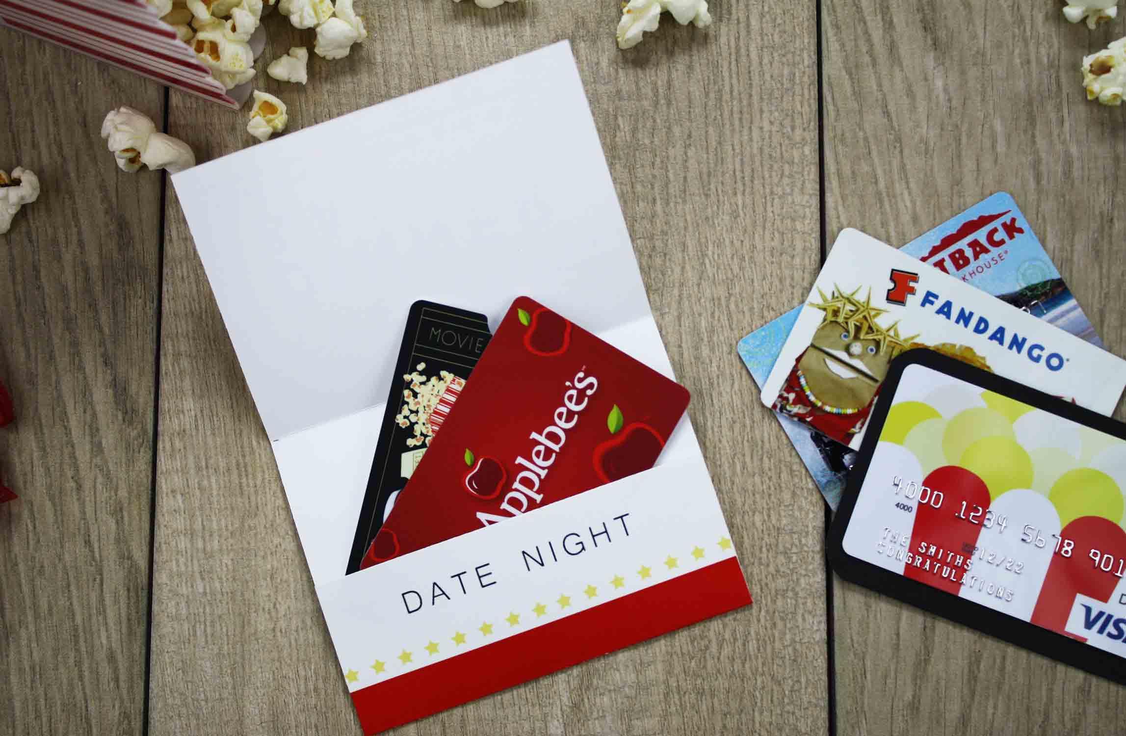 Originelles Hochzeitsgeschenk - Kinogutschein basteln oder Konzertkarten verpacken