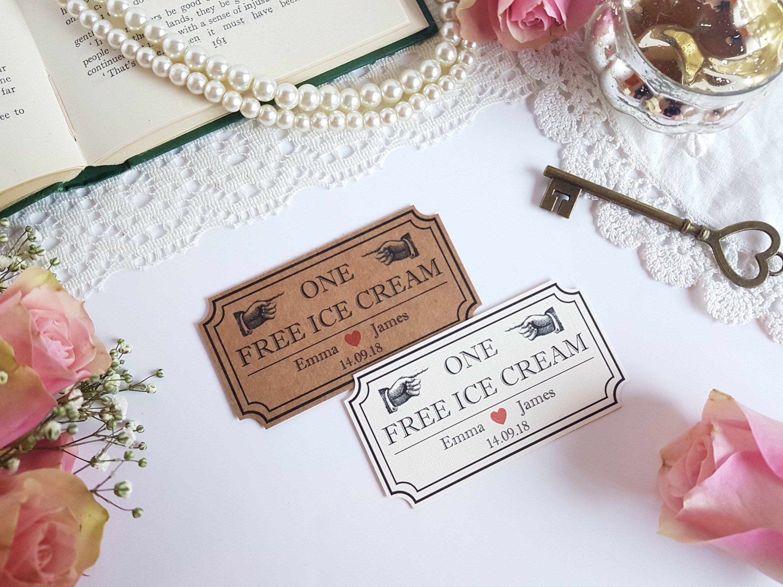 Lustige Ideen für Hochzeitsgeschenk - Eis Gutschein basteln