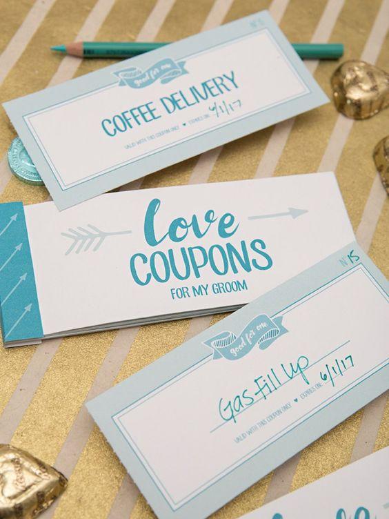 Gutscheine selber machen als Geschenk für Bräutigam