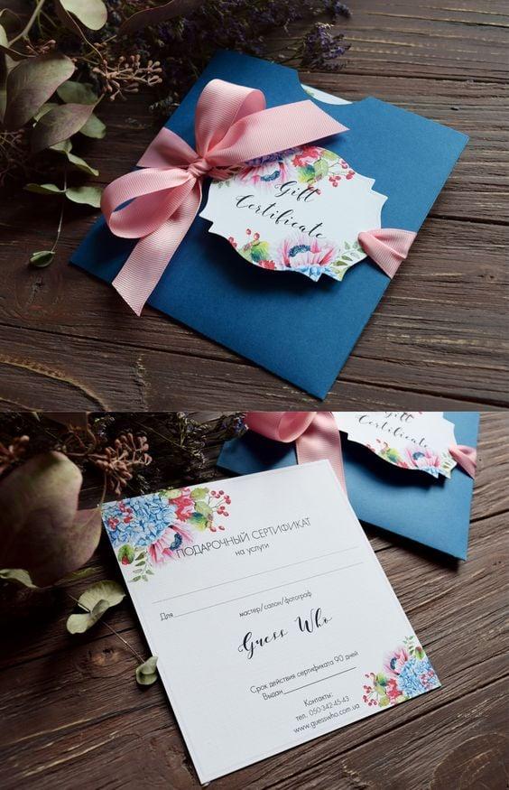 DIY Hochzeitsgeschenk - Gutschein verpacken