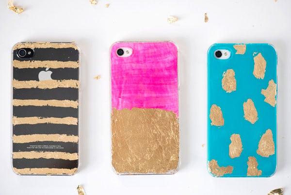 Hülle Iphone 7 mit Gold Folie