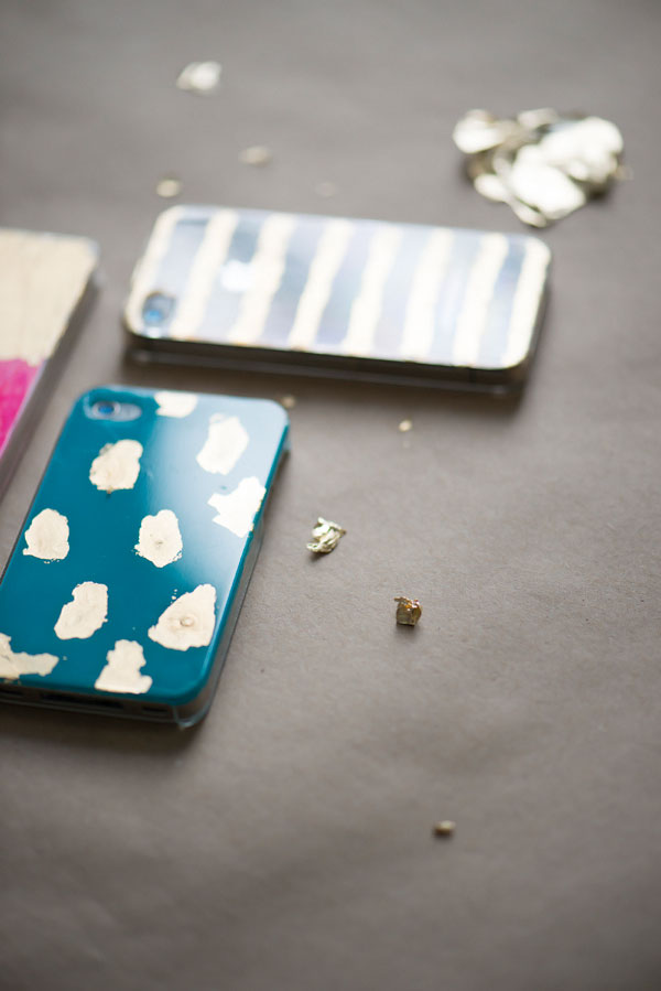 DIY Handy Cover mit Gold