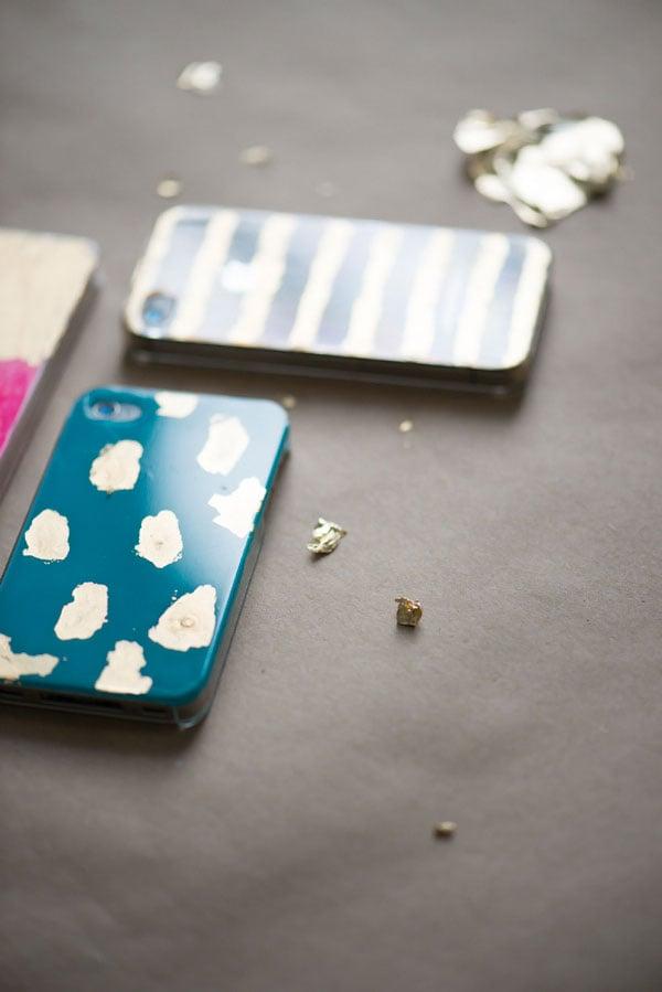 DIY Handy Cover mit Gold