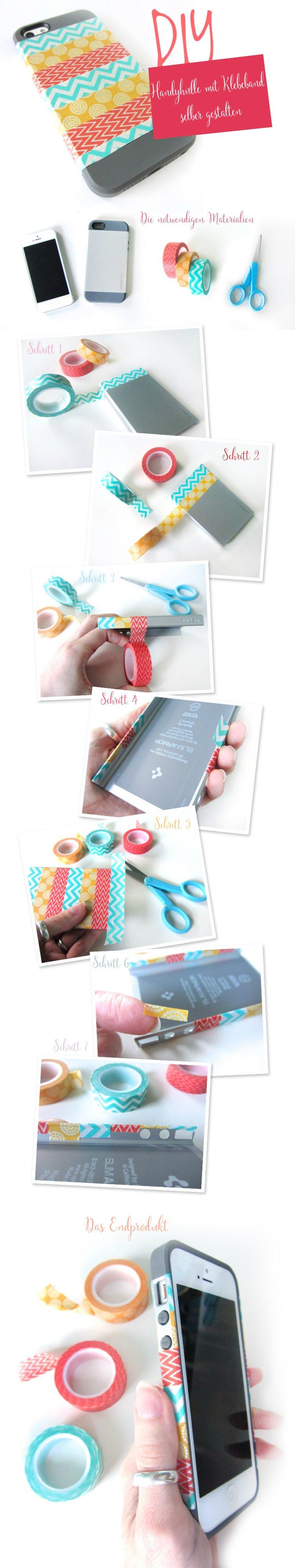 DIY Smartphone Tasche verschönern