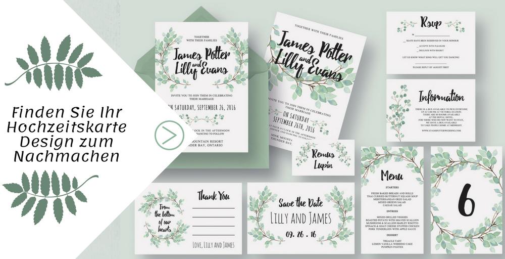 """Heute geben wir Ihnen ein Paar wunderschöneDIY Ideen fürHochzeitskarte Basteln - von den """"Save the Date"""" Hochzeitskarten über die Hochzeitseinladung bis hin zum Tagesablauf."""