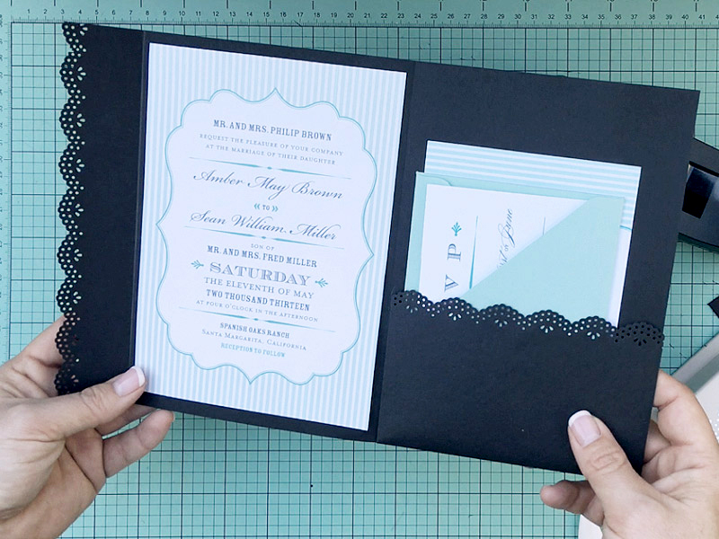 Hochzeitskarte Basteln: Laserschnitt zu hause kreieren