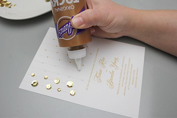 Hochzeitskarten selber machen und mit Pailletten aufpeppen