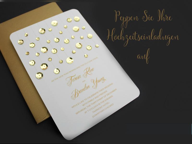 Anleitung №2: Einen goldenen Touch Ihren Hochzeitskarten selber machen