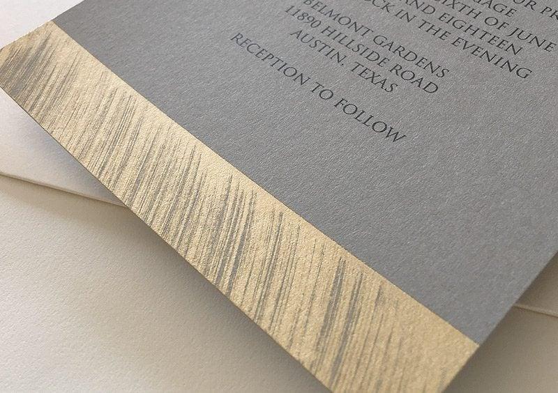 Ausgefallene Hochzeitseinladungen mit einem goldenen Touch