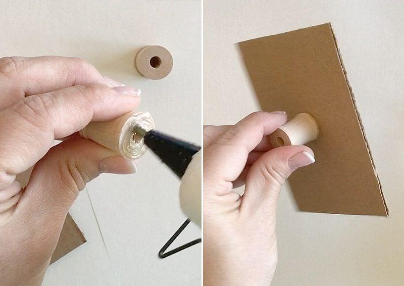 Briefumschlag und Hochzeitskarte basteln: gepunkteter Muster machen