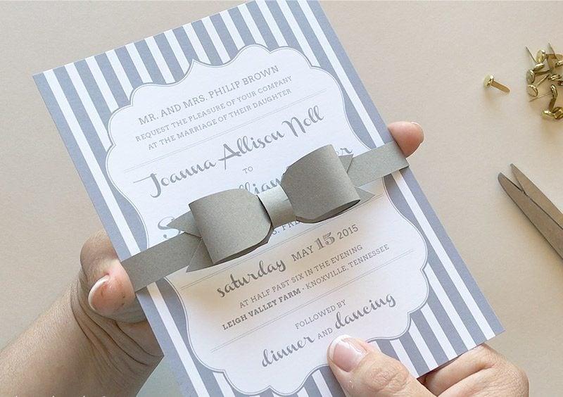 Anleitung №4: Eine Fliege für die Hochzeitskarten selber basteln