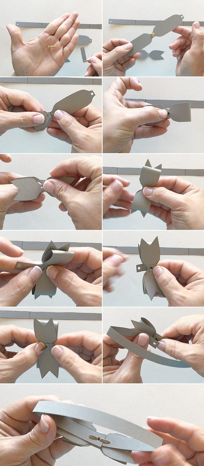 Eine Fliege für die Hochzeitskarten selber basteln: Die Fliege basteln