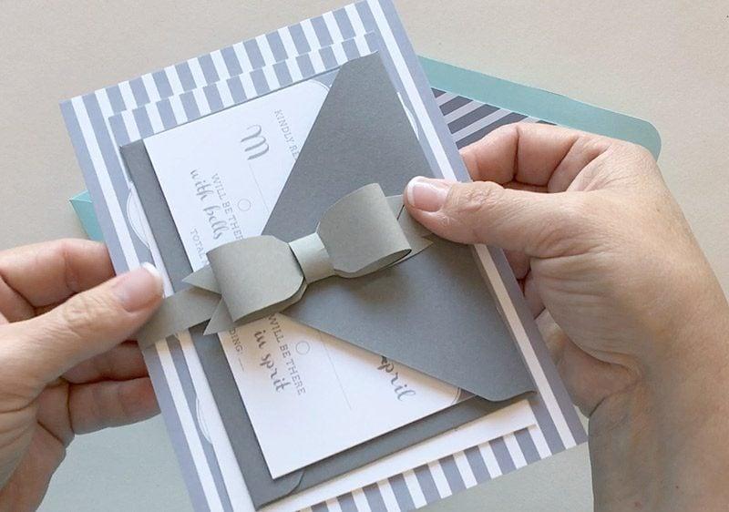 Eine Fliege für die Hochzeitskarten selber basteln