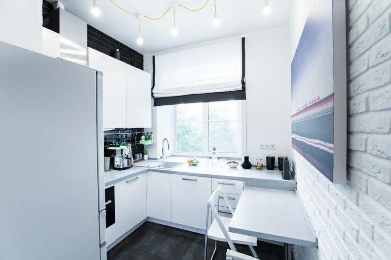 kleine Küchen einrichten L Form minimalistischer Stil