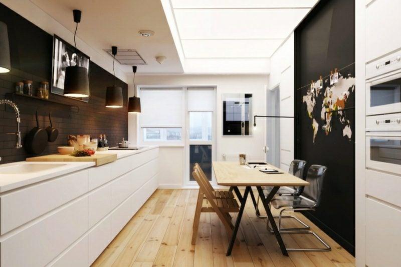 Kleine Küchen Einrichten Mit Essplatz Modern
