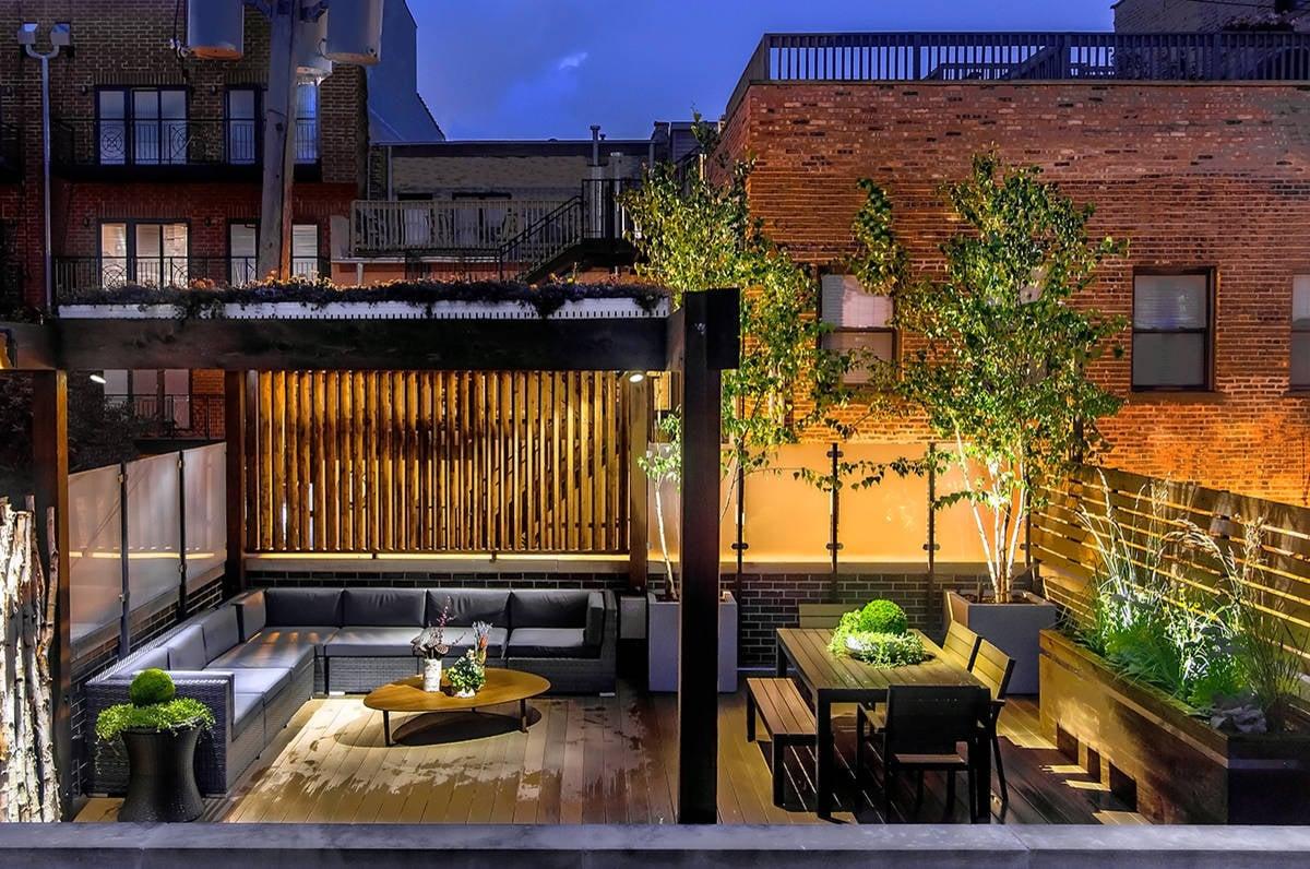 Setzen Sie richtige Licht-Akzente und betonen Sie Ihre moderne Terrassengestaltung