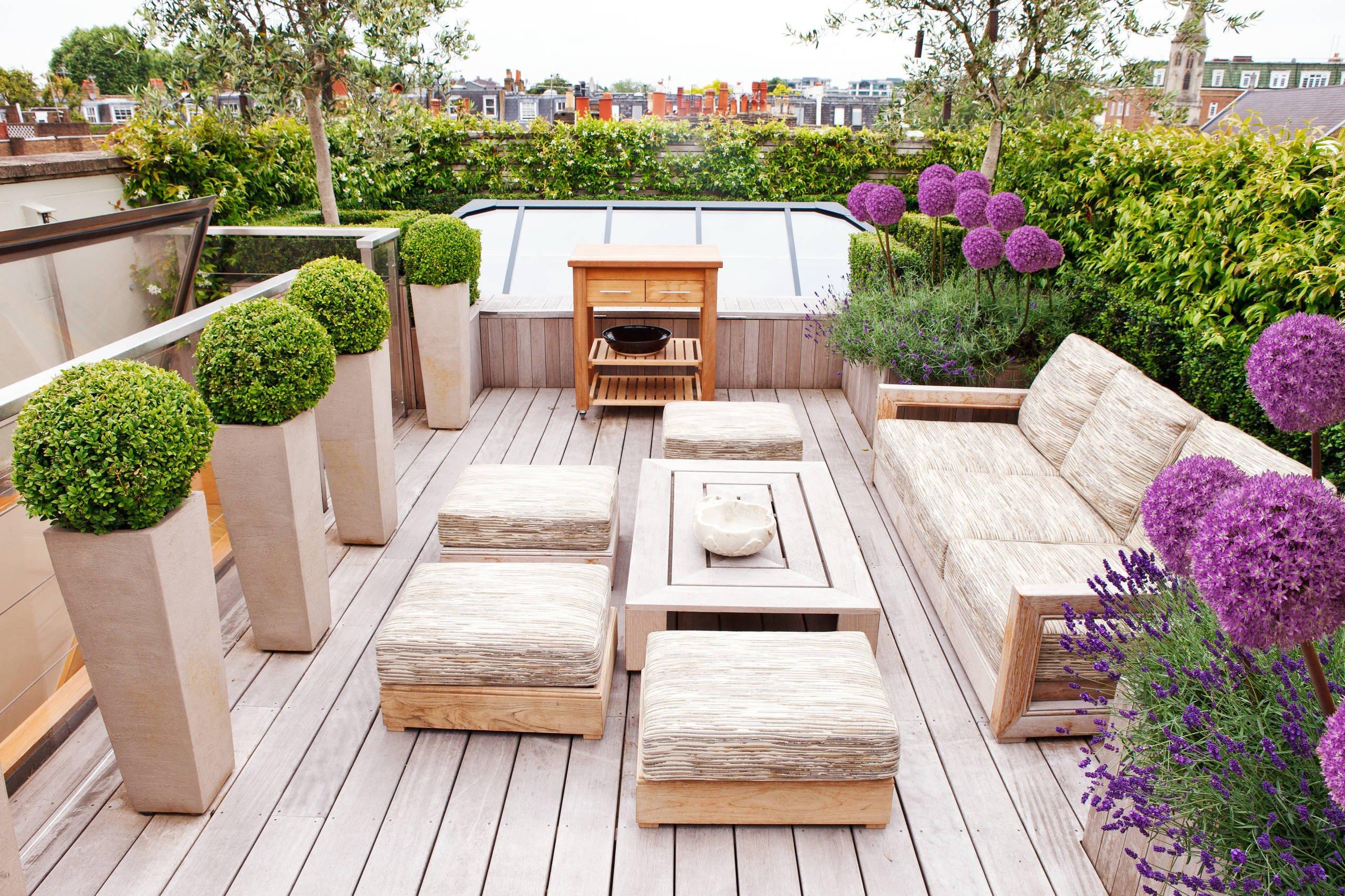 Terrassengestaltung mit Holz