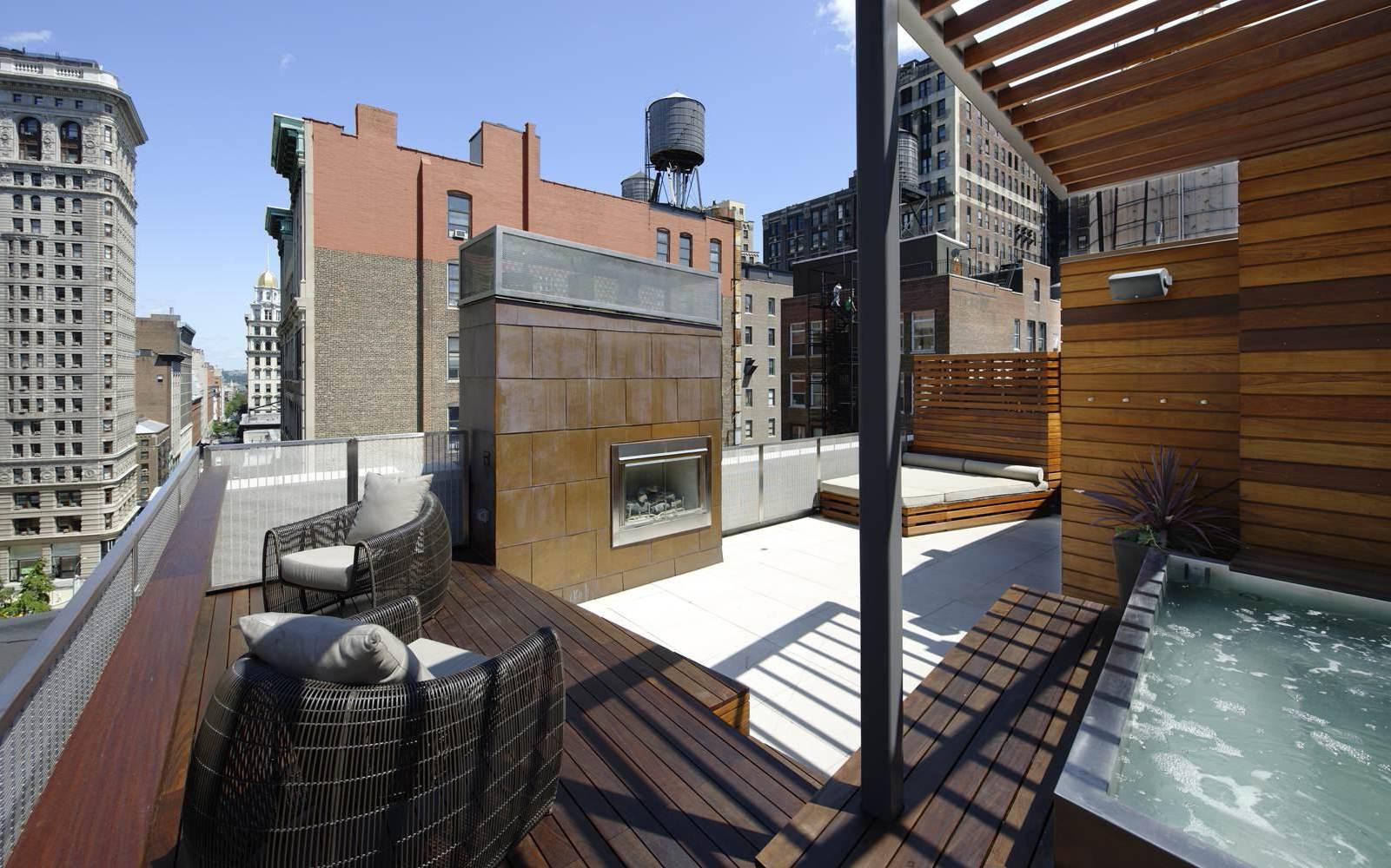 Die moderne Terrassengestaltung: Ein Kamin auf Ihrer Dachterrasse