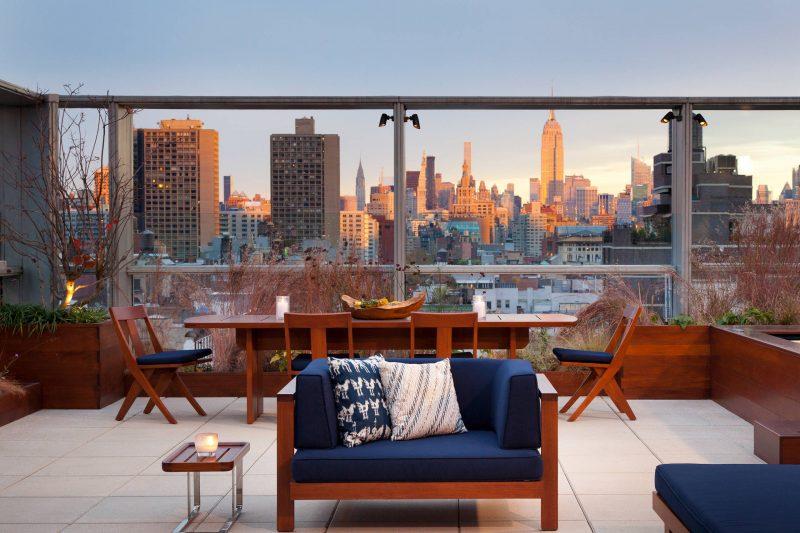 Die moderne Terrassengestaltung auf dem Dach