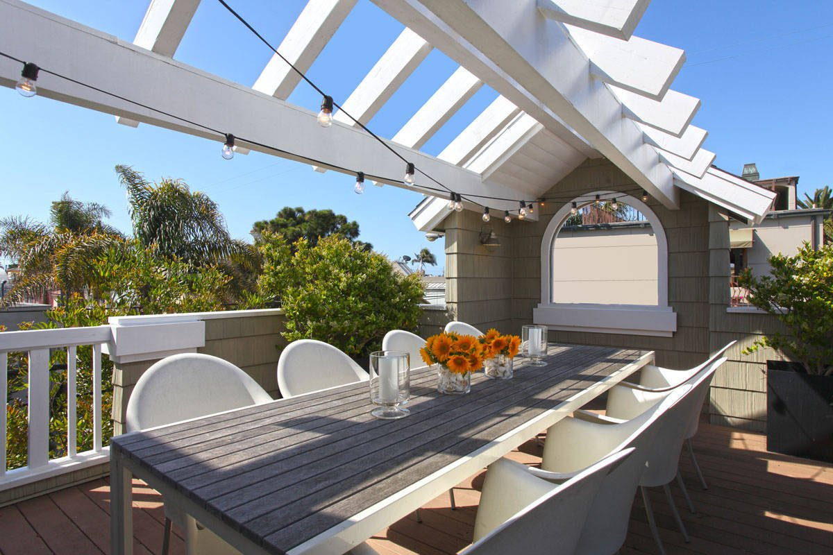 Terrassen Ideen für Gestaltung mit romantischem Touch