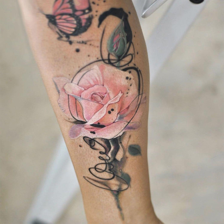 Bedeutung laut der Darstellungsform des Rosen Tattoos
