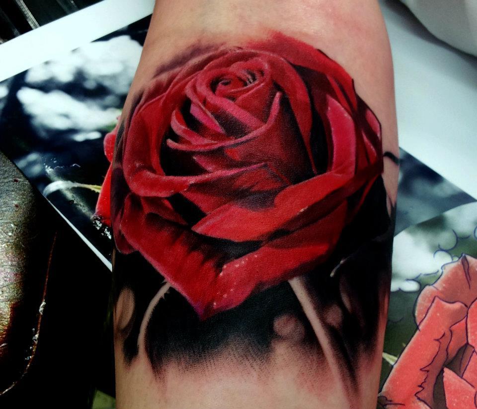 3D Rosen Tattoo