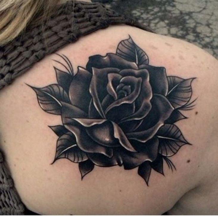 Das schwarze Rosen Tattoo - Bedeutung und Vorlage