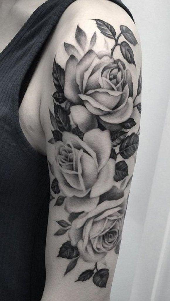 Kostenlose Tattoos mit Rose Vorlage